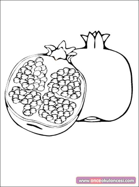 Nar Boyama Sayfasi Ile Ilgili Gorsel Sonucu Fruit Coloring Pages Coloring Pages For Kids Coloring Pages