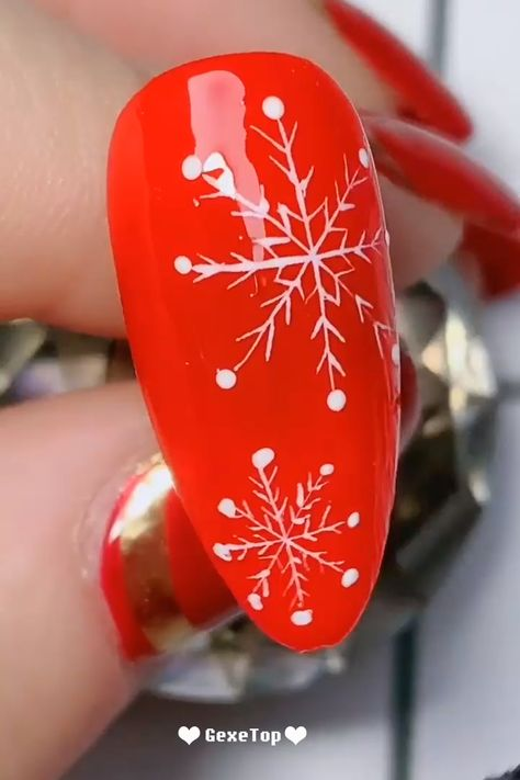 15 Amazing Nail Design Ideas For Christmas  Nails Design Tutorials Videos | Part 17