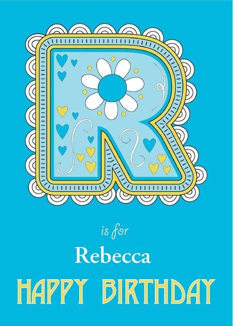 R Is For Birthday Card Ad Ad Birthday Card Birthday Cards Cards Greeting Card Artist