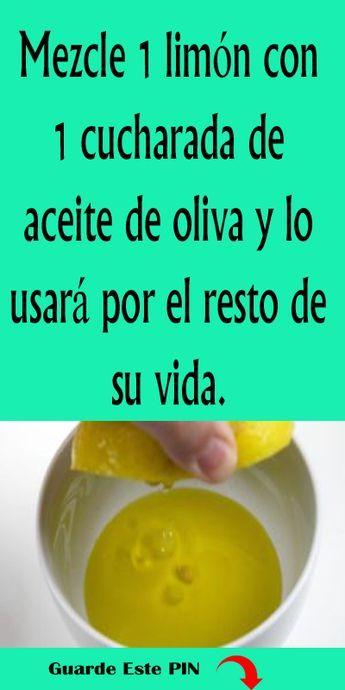 Mezcle 1 Limon Con 1 Cucharada De Aceite De Oliva Y Lo Usara Por