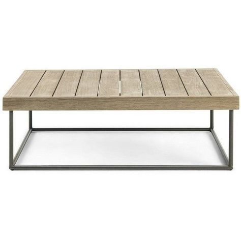 Ethimo Allaperto Mountain Rect Coffee Table Pickled Teak Coffee Brown 1 065 Aud Liked On Polyvore Featuring Home Outdoors Pati With Images Teak Outdoor Coffee Table