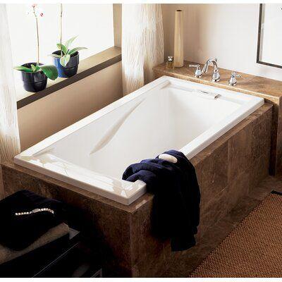 American Standard Evolution 60 X 32 Deep Undermount Soaking Bathtub Color Arctic White Deep Bathtub Soaking Bathtubs Deep Soaking Bathtub