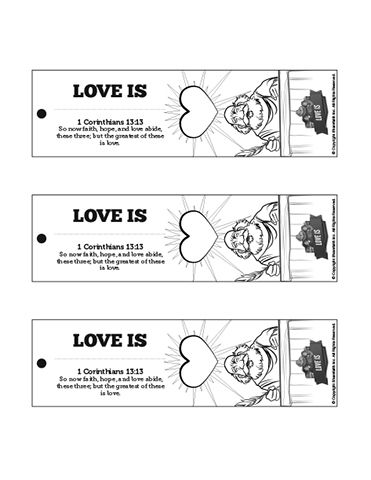 1 Corinthians 13 Love Is Bible Bookmarks: Encourage your
