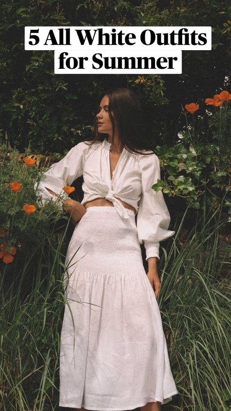 5 All White Outfits for Summer