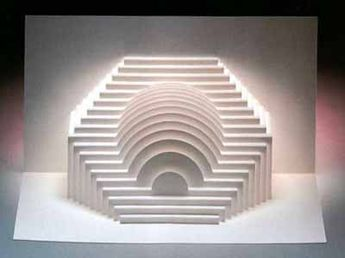 Pop Up Cards And Templates Of Varying Geometric Shapes And Structures Pop Up Art Kirigami Origami Architecture