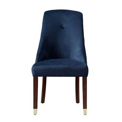Everly Quinn Goshen Upholstered Dining Chair Upholstery Colour Navy Luxurydiningroom Everly Side Chairs Dining Upholstered Dining Chairs Velvet Dining Chairs