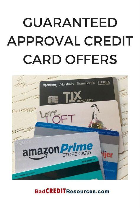 guaranteed approval credit card offers…  guaranteed