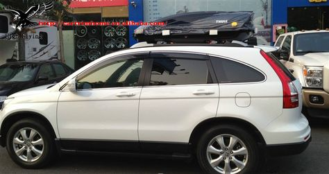 FOR HONDA 2007-2011 CRV CR-V BLACK SET OF WINDOW VISOR VENT WIND GUARD DEFLECTOR