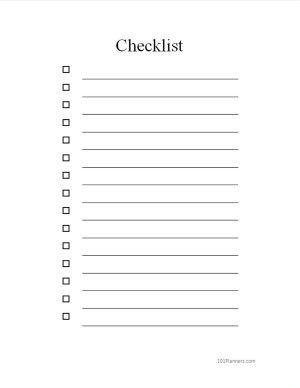 Free Checklist Template Word Checklist Template Checklist Templates