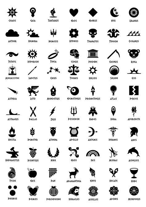 UrStoryZ- The post Greek Mythology Symbols appeared first on UrStoryZ. Greek Mythology Tattoos, Goddess Symbols, Greek And Roman Mythology, Greek Gods And Goddesses, Poseidon Greek Mythology, Tatuaje Percy Jackson, Percy Jackson Tattoo, Greek God Tattoo, Greek Symbol Tattoos