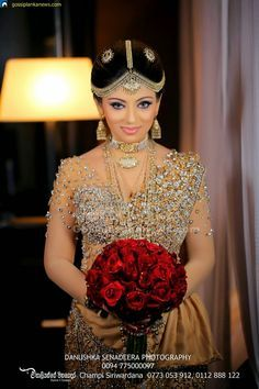 Gossip Photo Gallery: Nathasha Perera's Wedding Dress in Kandyan Style
