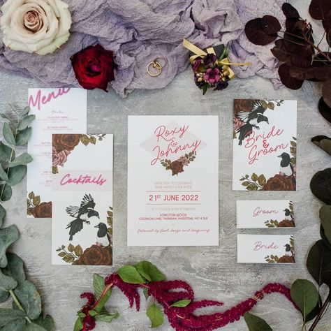 Non Traditional Wedding Ideas Becky Wright Stationery Invite Invitations Neon Floral #WeddingStationery #WeddingInvite #WeddingInvitations #Neon #Floral #Wedding