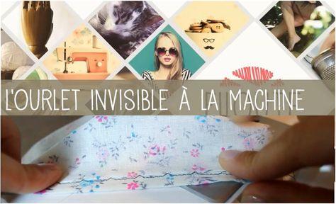 Comment faire un ourlet invisible à la machine? #couture #tuto  #DIY