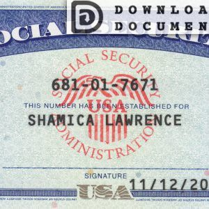 Social Security Card 04 Ssn Download In 2020 Social Security Card Card Template Credit Card Pictures
