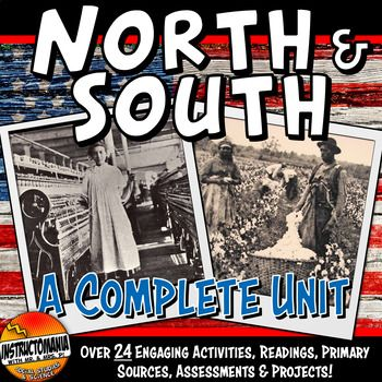 Worlds Of North And South Complete Unit Bundle Pre Civil War Lesson Plans Civil War Lesson Plans Civil War Lessons History Lesson Plans