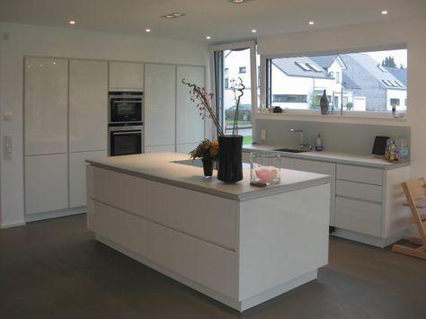 Küche weiß mit hellem Holzboden Küche Pinterest Helle - nolte kchen mit kochinsel und theke