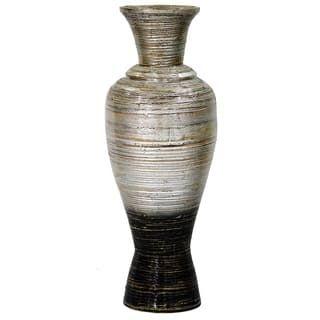 Buy Vases Online At Overstock Com Our Best Decorative Accessories Deals Floor Vase Large Floor Vase Bamboo Flooring