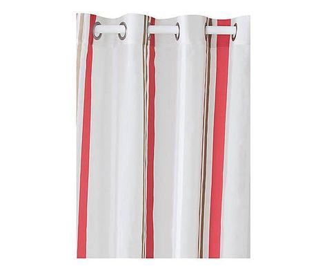 Rideau Juno Polyester Gris Et Rouge 140280 Rideaux