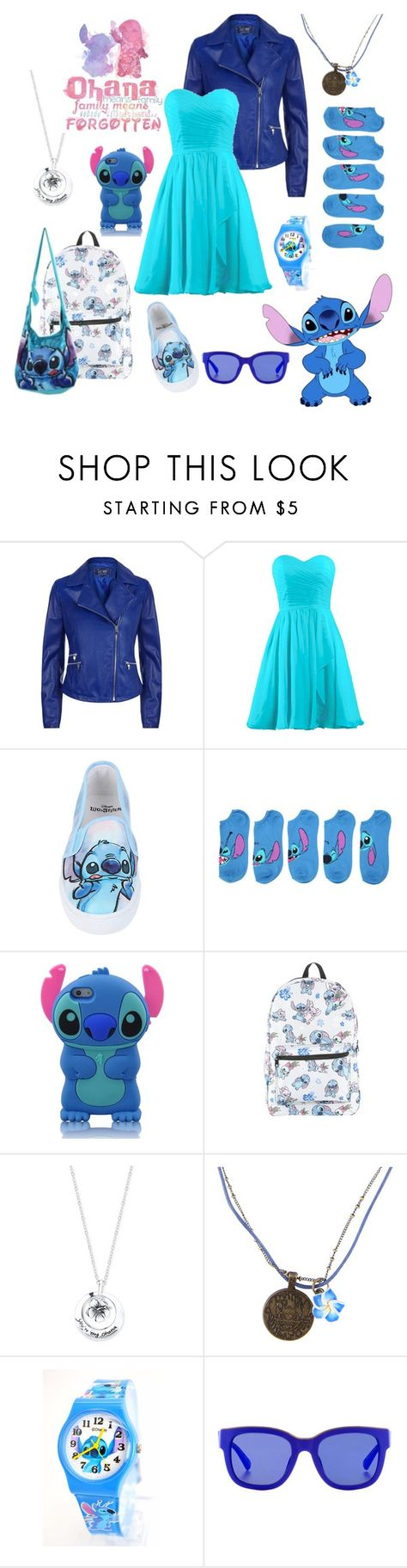 """Stitch"" by kai-noel ❤ liked on Polyvore featuring Armani Jeans, Disney and Etnia Barcelona"