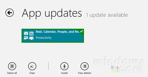Mail, People, Calendar and Messaging apps of Windows 8/RT gets minor updates