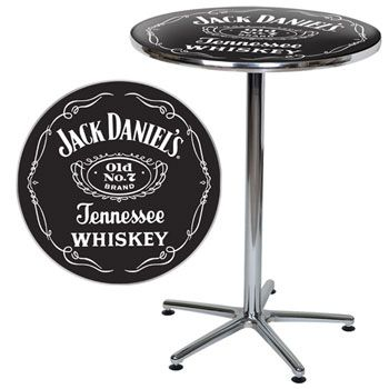 The Jack Daniels Cafe Table Features A Durable Acrylic Top