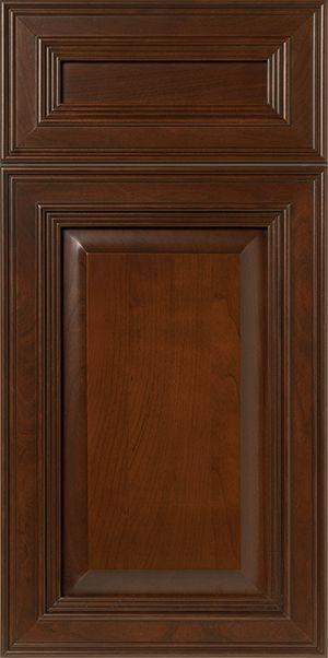 S927 Ashland Mitered Style Cabinet Door Drawer Font In Dark Brown Finish On Cherry Wood Walzcraft Cabinet Doors Cabinet Door Designs Cherry Wood