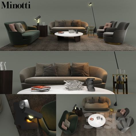Sofa Modeling In 3ds Max Free Download  3d model minotti 2017 sofa 93 free download furniture