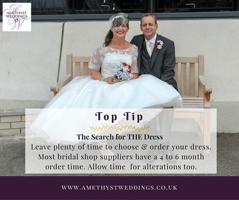 Wedding Planning Tip Dress Search Leave Plenty Of Time For
