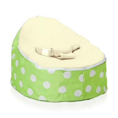 Astounding Super Soft Green Polka Baby Bean Bag With White Spots Ocoug Best Dining Table And Chair Ideas Images Ocougorg