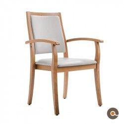 Chaise Liza Avec Accoudoirs Dossier Haut Chaise Chaise Accoudoir Chaises Classiques