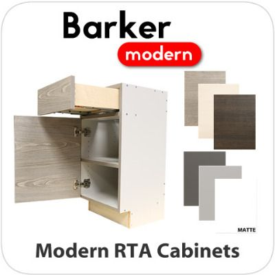 Modern Slab Rta Cabinets Main Difference Between Mod Cabinetry Brand Is That Barker Is Ready To Assemble And Mod Is Rta Cabinets Cabinet Rta Kitchen Cabinets