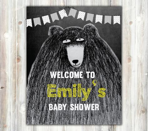 black teddy bear baby shower, Yellow, black and white, hands drawing, baby, fall baby#Yellow #BlackAndWhite #BabyShower #BlackTeddyBear #PokaDotFlag #TeddyBearBaby #ChalkboardSign #BabyShowerSign #DoorSign #BabyShowerDoor #ChalkboardPoster #TeddyBearPoster #GreyscaleTeddyBear