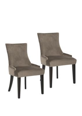 Safavieh Set Of 2 Lester Dining Chairs Mushroom Safavieh Set