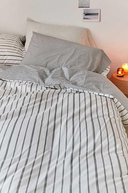 Reversible Stripe Duvet Cover Striped Duvet Covers Striped Duvet Striped Bed Sheets