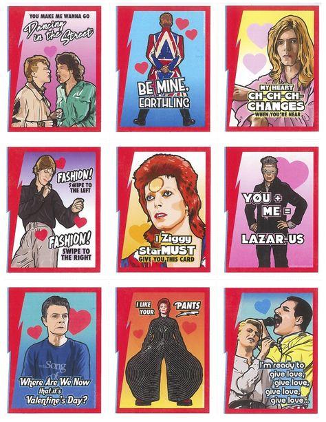 David Bowie Valentine's by Matthew Lineham
