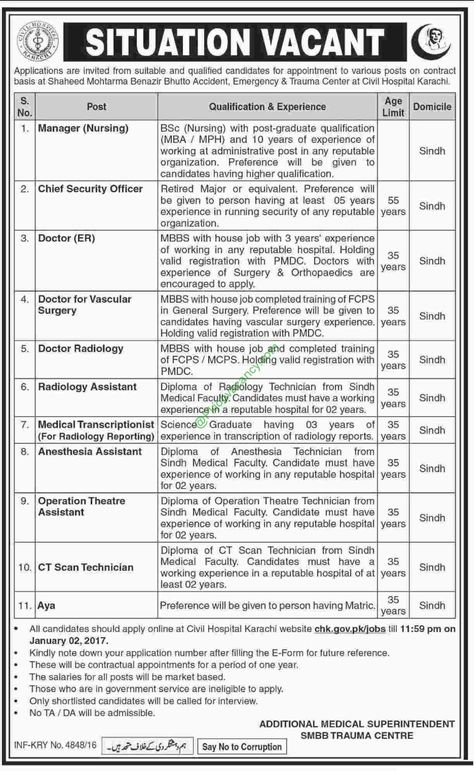 Radiologist Jobs in Auqaf Organization in PPSC Jobs In Pakistan - radiologist job description