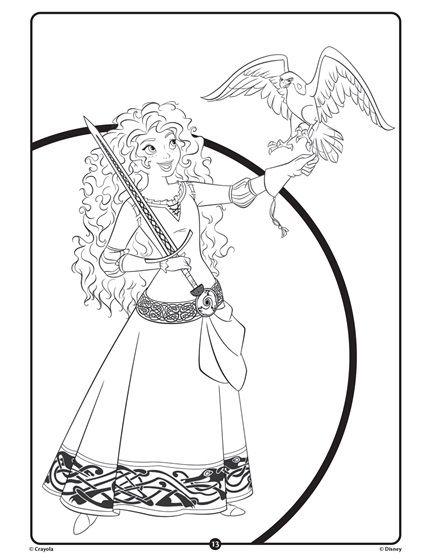 Disney Princess Merida Crayola Com Princess Coloring Pages Free Coloring Pages Coloring Pages