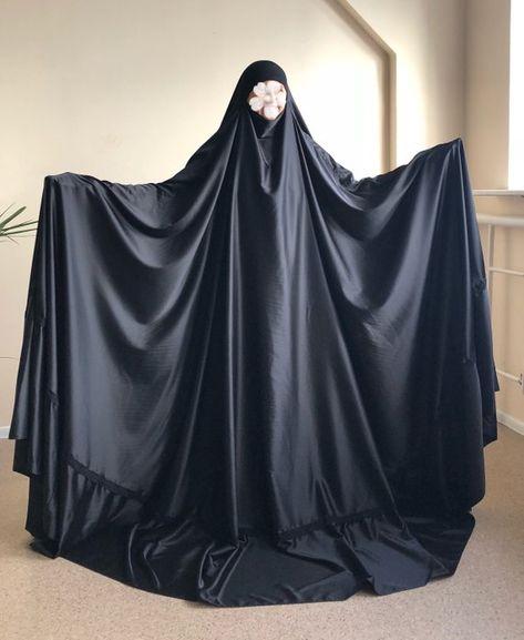 Black long burqa, Muslim noir niqab , islamic hijab , hajjie clothing, long jilbab