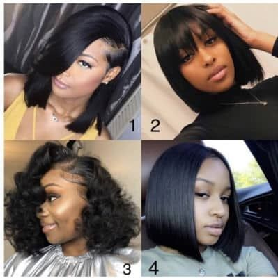 Quick Weave Hairstyles 2020 In 2020 Bob Hairstyles Straight Human Hair Human Hair Wigs