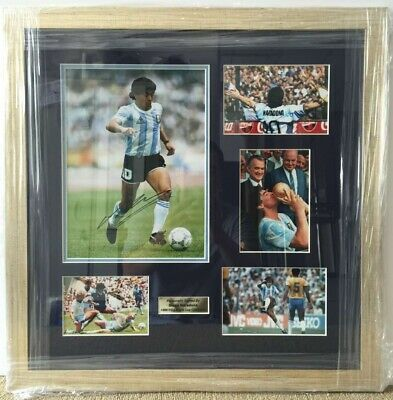 Diego Maradona Argentina 1986 World Cup Signed 8x10 Photo Collage Frame Coa Ebay In 2020 Framed Photo Collage Photo Collage Diego Maradona