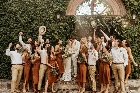 Latest Absolutely Free A Destination Wedding in San Miguel De Allende Vors . - Latest Absolutely Free A Destination Wedding in San Miguel De Allende Suggestions A great way to ch - Wedding Bells, Fall Wedding, Wedding Events, Dream Wedding, Wedding Stage, Bodas Boho Chic, Wedding Bridesmaid Dresses, Burnt Orange Bridesmaid Dresses, Burnt Orange Weddings