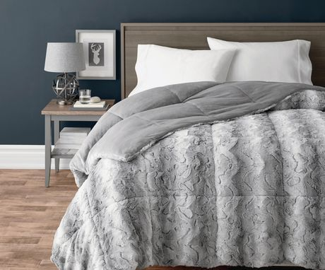 Hometrends Reversible Comforter Grey Double Queen Comforters Comforter Sets Bed Comforters
