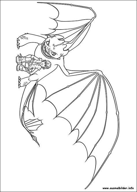 Drachenzähmen leicht gemacht malvorlagen   Drachenzähmen ...