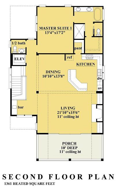 Sunset Cove Ii Coastal House Plans From Coastal Home Plans Beach House Plans House Plans Beach House Floor Plans