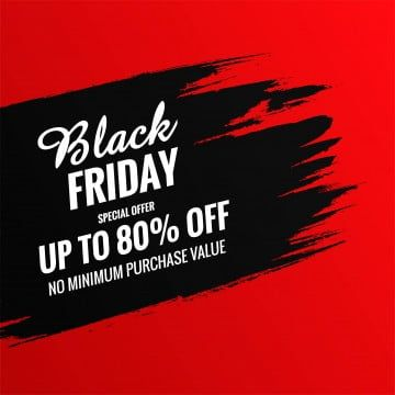 Red Background With Black Brush Stroke Black Friday Sale Design Friday Clipart Background Sale Png And Vector With Transparent Background For Free Download Black Friday Sale Design Red Background Red And