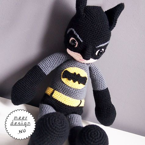 gehaakte batman pop | crochet batman doll | meerdesign.nu