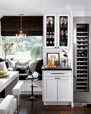 gorgeous love the tall narrow wine refrigerator and the little