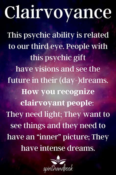 Intuition can be described as a direct sense of knowing because psychic senses receive and react to certain kinds of energy. There are 4 different types of intuition and people have at least one or two of these psychic abilities. Discover which kind of psychic gift you have! clairaudience - clairsentience - clairvoyance - claircognizance - signs #psychic #medium #abilities #gift #spiritual #clairaudience #clairsentience #clairvoyance #claircognizance
