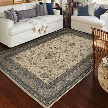 Vintage Treasures Rug Collection Ansley Ivory Made In The Usa Area Rugs Orian Rugs Blue Area Rugs