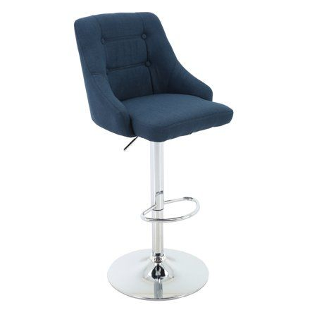 Superb Adjustable Height Tufted Upholstered Round Back Barstool Unemploymentrelief Wooden Chair Designs For Living Room Unemploymentrelieforg